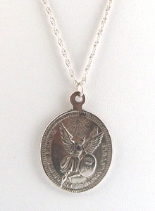 1fe33817985 Oval Sterling Silver Angel Coin Necklace (necklaces) ~ jessica ...