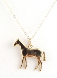 14K Horse Charm Necklace