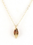 14K Leaf charm necklace