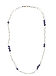 Lapis and Long Chain Necklace
