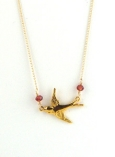 Bird Charm Necklace $75 On Sale $35