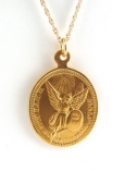 Oval Gold Plated Coin Necklace